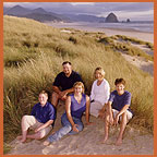 Cannon Beach, Oregon,  family portraits by  Jim Stoffer Photography